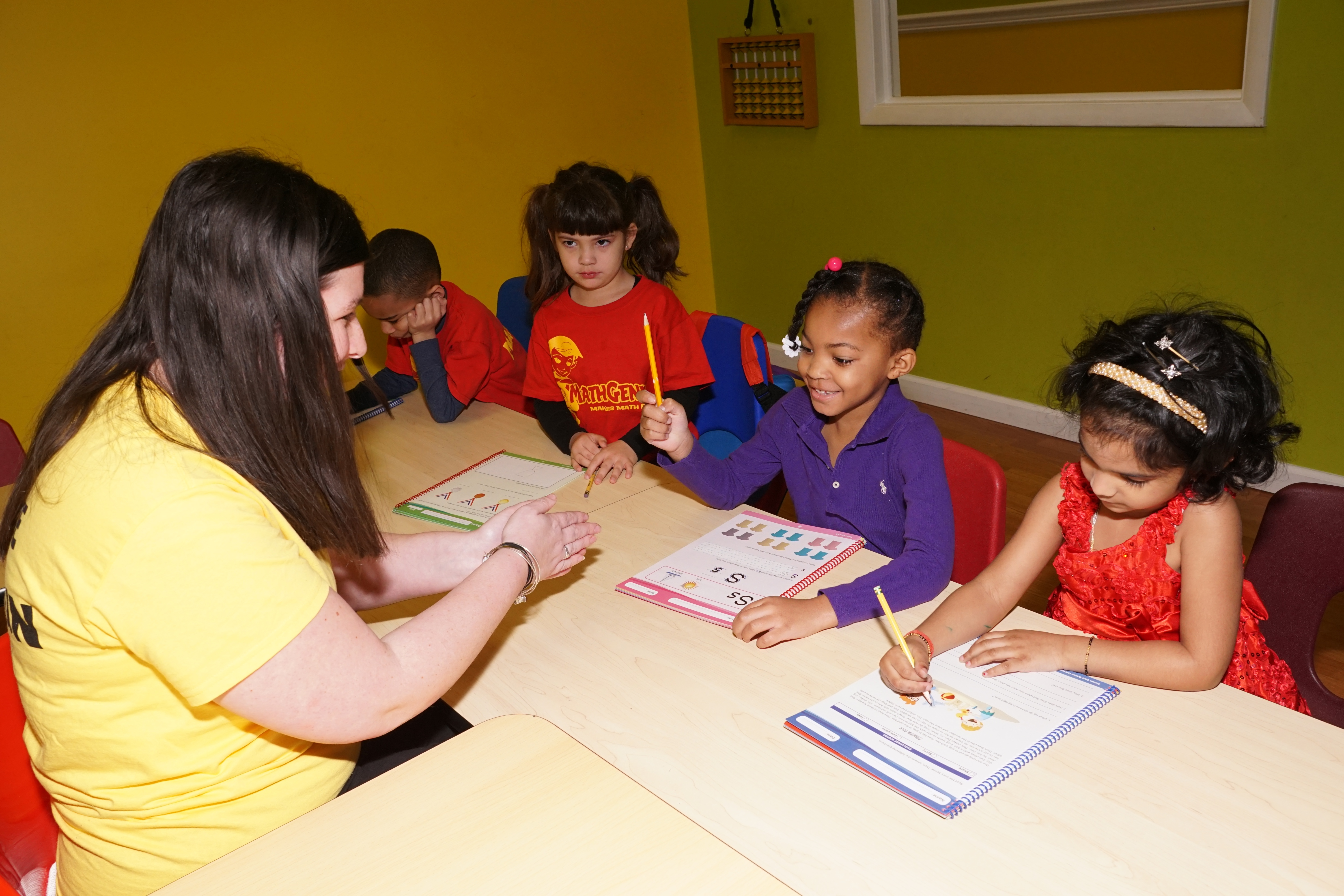 Math Genies reading program targets your childs weaknesses and builds on their strengths using small class sizes, accelerated learning, customized reading plan, and a fun and engaging environment