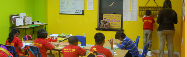 Math Genie Students Learn on the Abacus