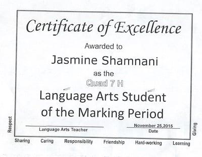 Jasmine success