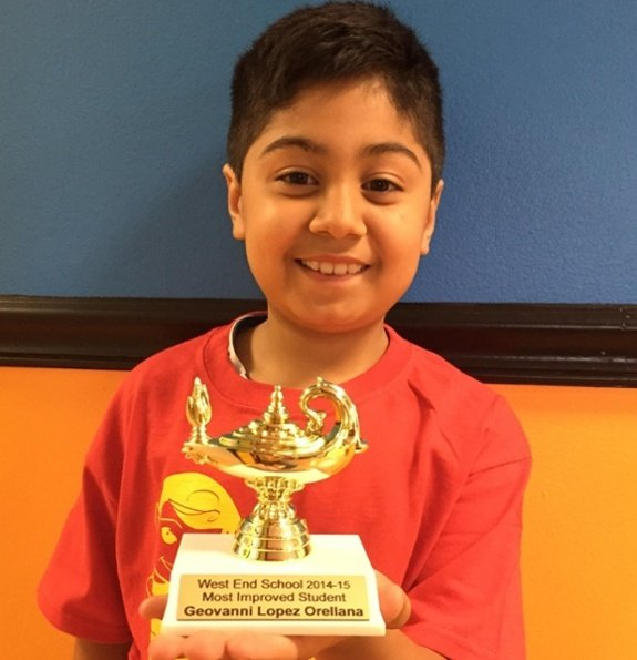 Math Genie Success-Student struggling with numbers and reading wins Most Improved Award from school after enrolling in Math Genie