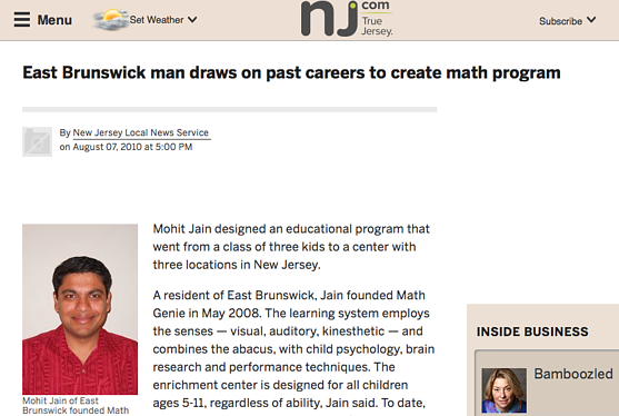 Math Genie owner designs educational program using the abacus, child psychology, brain research, and performance techniques-Star Ledger