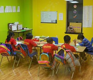 Math Genies small class sizes ensure that your child is recieving ample individual attention and is also in a structured setting with other independent students