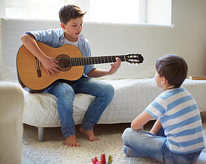 playing music helps your child learn