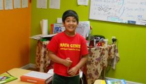 Math Genie Student in class