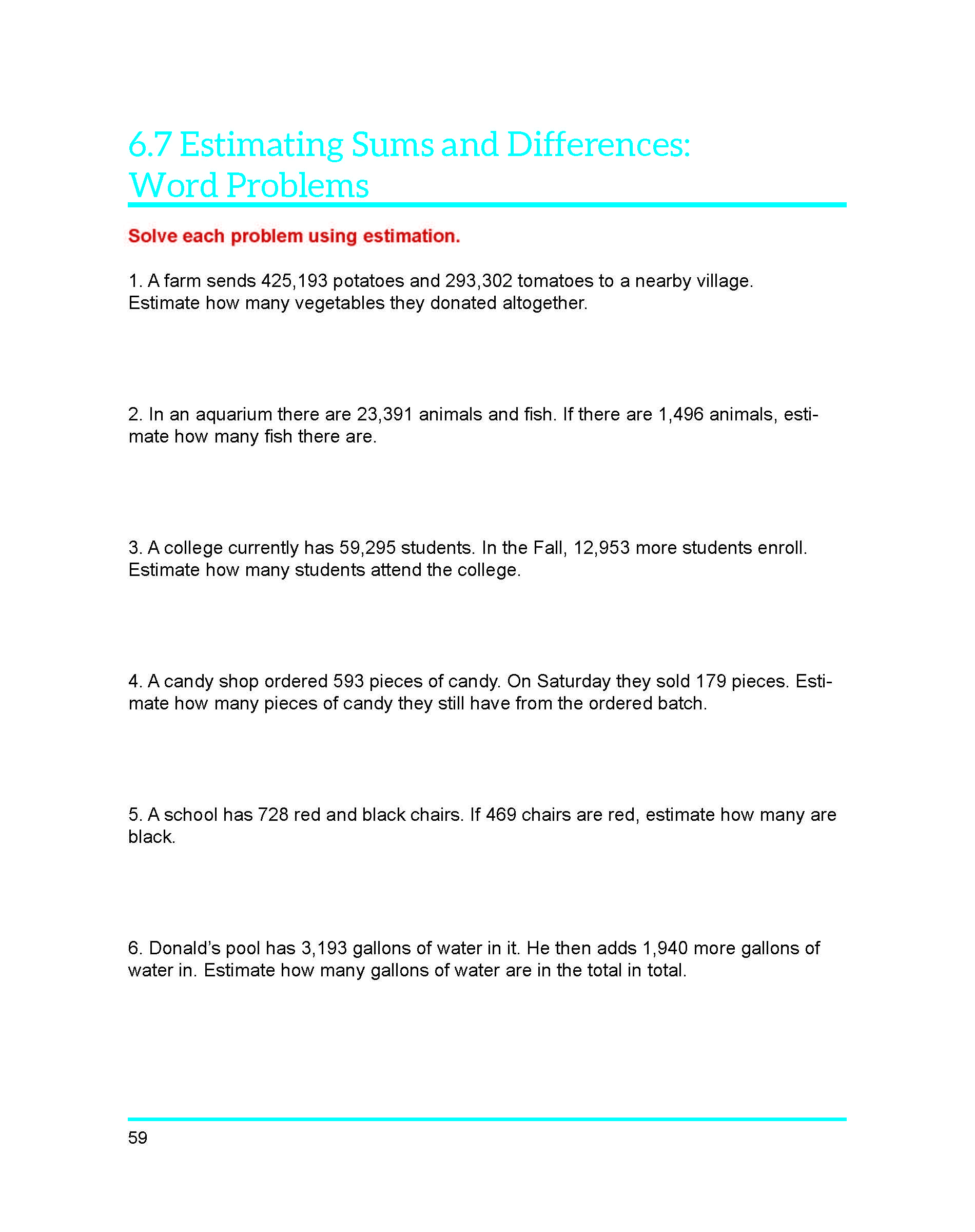 worksheet Estimating Sums estimating sums and differences worksheet adding money word problems worksheet