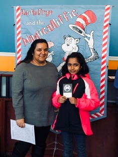 Fourth Grade Writing Champion: Grishmaa